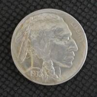 1937-S BUFFALO NICKEL 5c (Nickel) AU58