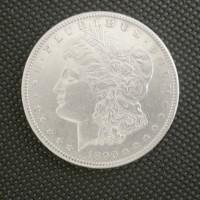 1890-CC MORGAN DOLLAR $1 AU50