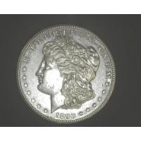 1893-CC MORGAN DOLLAR $1 AU53