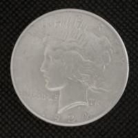 1934-S PEACE DOLLAR $1 AU50