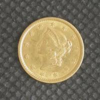 1853 LIBERTY GOLD DOLLAR TY'1 $1 AU55