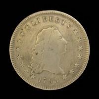 1795 2 Leaves FLOWING HAIR DOLLAR $1 F18 FH