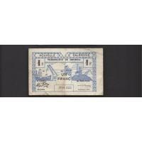 NEW CALEDONIA, 1943 Franc F12 P55b