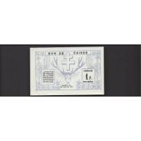 NEW CALEDONIA, 1943 Franc AU58 P55b