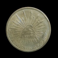 MEXICO, 1900 Zs Peso MS62 KM409.3