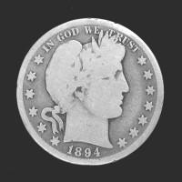 1894-S BARBER HALF DOLLAR 50c G/AG