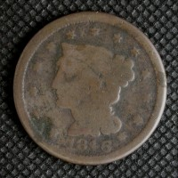 1846 SD LIBERTY HEAD LARGE CENT 1c G4
