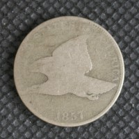 1857 FLYING EAGLE CENT 1c AG/G