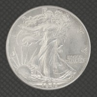 1941 WALKING LIBERTY HALF DOLLAR 50c AU58