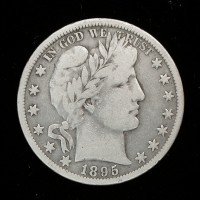 1895-O BARBER HALF DOLLAR 50c VG10