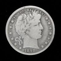 1898-O BARBER HALF DOLLAR 50c VG9