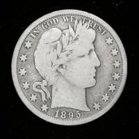 1895-S BARBER HALF DOLLAR 50c VG8