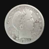 1892-S BARBER HALF DOLLAR 50c VG8