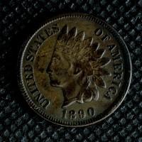 1890 INDIAN CENT 1c EF45