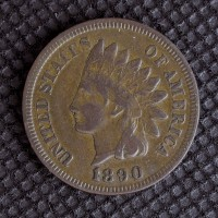 1890 INDIAN CENT 1c VF35