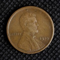 1919-S LINCOLN WHEAT CENT 1c EF45