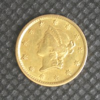 1854 LIBERTY GOLD DOLLAR TY'1 $1 EF40
