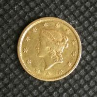 1853 LIBERTY GOLD DOLLAR TY'1 $1 EF45