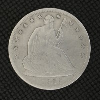 1868-S LIBERTY SEATED HALF DOLLAR 50c VF30