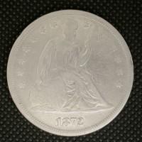 1872 LIBERTY SEATED DOLLAR $1 VG8