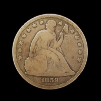 1859-S LIBERTY SEATED DOLLAR $1 G6