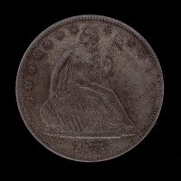 1872 LIBERTY SEATED HALF DOLLAR 50c AU50