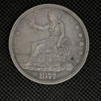 1877 TRADE DOLLAR $1 VF20