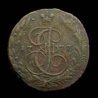 RUSSIA, 1777 5 Kopeks EF40 C59.3