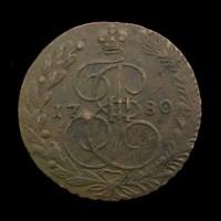 RUSSIA, 1780 5 Kopeks EF40 C59.3
