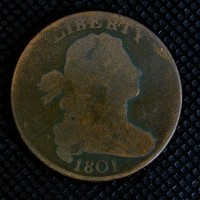 1801 DRAPED BUST LARGE CENT 1c G4