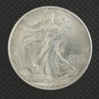 1946-D WALKING LIBERTY HALF DOLLAR 50c AU55