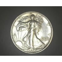 1917-S Rev WALKING LIBERTY HALF DOLLAR 50c AU50