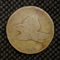 1858 SL FLYING EAGLE CENT 1c AG/G