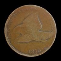 1858 LL FLYING EAGLE CENT 1c AG/G