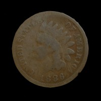 1886 Ty'1 INDIAN CENT 1c AG-G