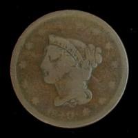 1840 LD LIBERTY HEAD LARGE CENT 1c G4