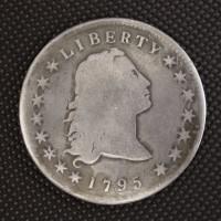 1795 3 Leaves FLOWING HAIR DOLLAR $1 VG8