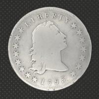 1795 2 Leaves FLOWING HAIR DOLLAR $1 VG8