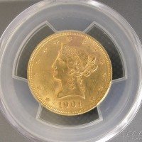 1901 LIBERTY $10 GOLD $10 MS63 PCGS
