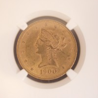 1900 LIBERTY $10 GOLD $10 MS62 NGC