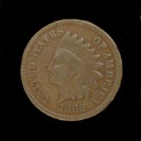 1869 INDIAN CENT 1c F12