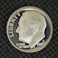 1985-S ROOSEVELT DIME 10c PF65+