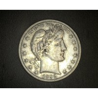 1892-S BARBER HALF DOLLAR 50c VF30