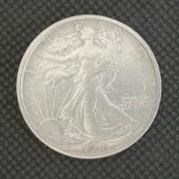 1916 WALKING LIBERTY HALF DOLLAR 50c AU50