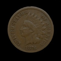 1876 INDIAN CENT 1c F12
