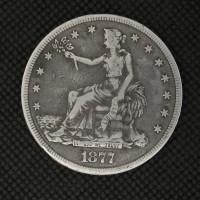 1877-CC TRADE DOLLAR $1 F18