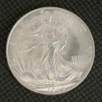 1946 WALKING LIBERTY HALF DOLLAR 50c MS64 White