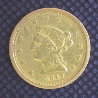 1843-O SD Cr4 LIBERTY $2 50 GOLD $2.50 EF40