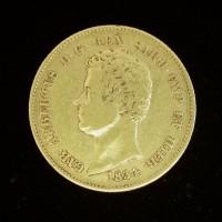 ITALY-SARDINIA, 1834 20L VF35 KM131.1