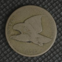 1858 SL FLYING EAGLE CENT 1c AG-G